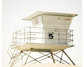 Lifeguard Station Fine Art Print - Beach Photography - Southern California Pictures - Summer Wall Art - Beach Cottage Wall Decor