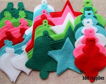 Fa La La - Ornaments Combo Pack - 60 Die Cut Felt Shapes