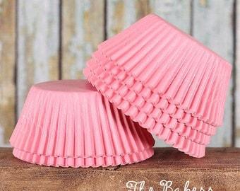 Light Pink Cupcake Liners, Pink Cupcake Wrappers, Baby Shower Cupcake Liners, Baby Pink Baking Cups, Wedding Cupcake Liners (50)