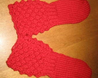 Red Mitts Toddler, Knit Mitts,Wool Mitts, Free Shipping When Purchased With Another Item