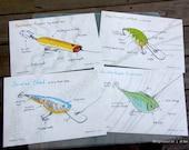 Fishing Lures (set of 4)