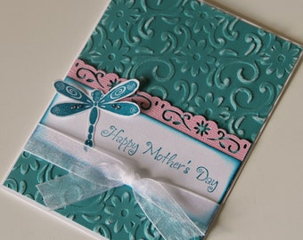 Embossed Mothers Day Card with Dragonfly (MD1418)