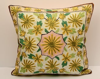 16X16 Sofa decorative pillow, silk handmade embroidered, best quality