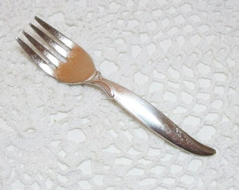 Vintage Wm Rogers Silver plate Baby/Toddler fork  Flair pattern