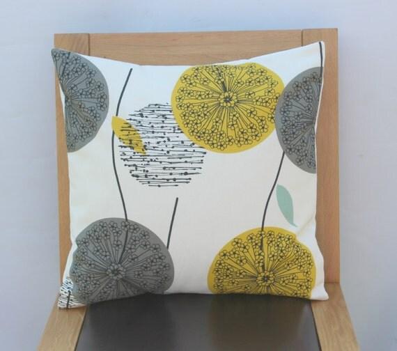 kissen l wenzahn senf gelbblaublaugr n abdeckung grau von veedubz. Black Bedroom Furniture Sets. Home Design Ideas