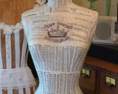 Full Size Mannequin Dress Form Vintage Inspired   Art Free Shipping & Layaway Available