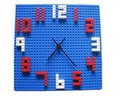 LEGO Kids WALL CLOCK - Building Block Children's Decor