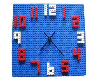 LEGO Kids WALL CLOCK - Building Block Children's Decor