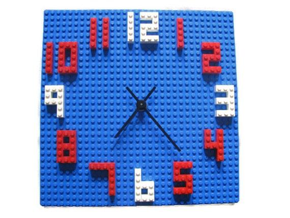 Lego Kids Wall Clock Building Block Children 39 S Decor