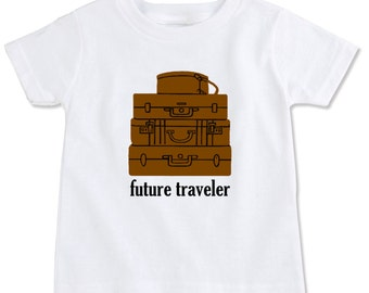 Future Traveler Vintage Suitcases Toddler T-Shirt