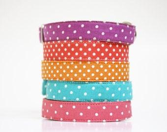 Dog Collar- fabric dog collar- polka dot- wedding dog collar
