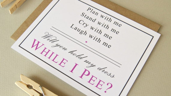 Funny Wedding Invite Poems: Bridesmaid Or Maid Of Honor Will You Hold My By