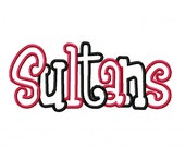 Sultans 2 color Embroidery Machine Applique Design 4247