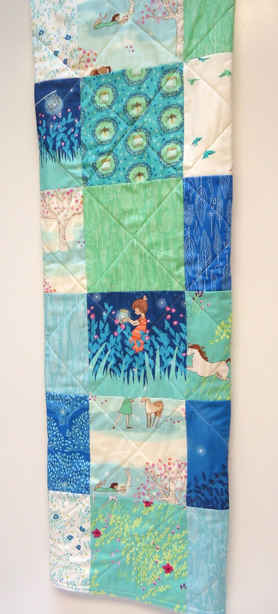 Baby quilt gender neutral modern fabric wee by for Unisex baby fabric