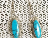 Vintage Silver and Tuquoise Earrings