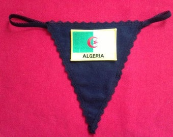 Womens ALGERIA G-String Thong  Soccer World Cup Lingerie  Country Panty  Flag Underwear