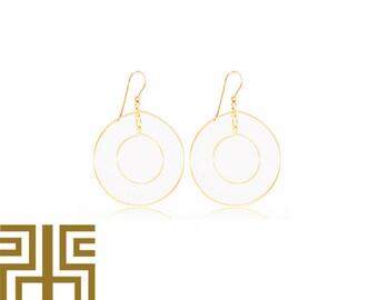 Double Ripple Hoop Earring, H13-8S