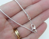 """BULK 10 Snake necklace chains 46cm or 18"""" silver plated"""