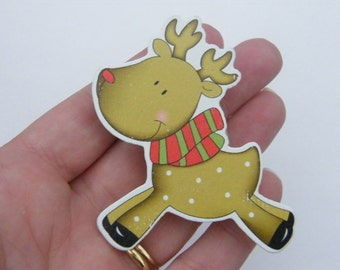 5 Reindeer pegs 68 x 56mm - SALE 75% OFF