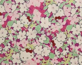 Liberty tana lawn - Kakurenbo - Hello Kitty printed in Japan - Pink purple mix