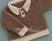 Crochet Pattern - Pullover/Sweater/Jumper - Sizes 6, 12 and 18 mos - Baby Bebe Child pattern