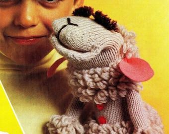SALE **** Lamb Chop Glove Puppet Knitting and Crochet Pattern - Shari Lewis PDF DOWNLOAD