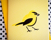 Goldfinch Bird Letterpress card