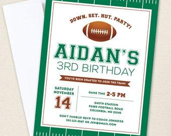 Football Party Invitations - Professionally printed *or* DIY printable
