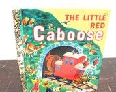 Vintage The Little Red Caboose Little Golden Book