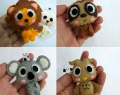 Jungle Animals Collection (Lion, Sloth, Koala, Owl) - PICK ONE