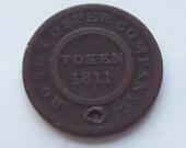 1811 Birmingham Half Penny Token