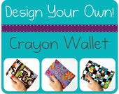 Custom Crayon Wallet art toy, Crayon organizer, Personalized gift, You pick the fabric, Gift for boys, Gift for girls, Stocking stuffer