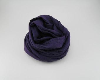 Handmade Linen Scarf --- Purple