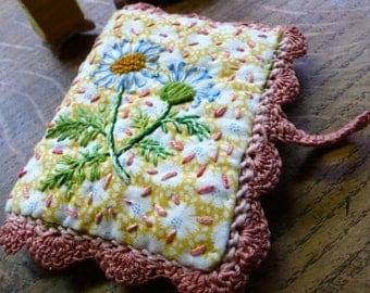 hand embroidered needlecase