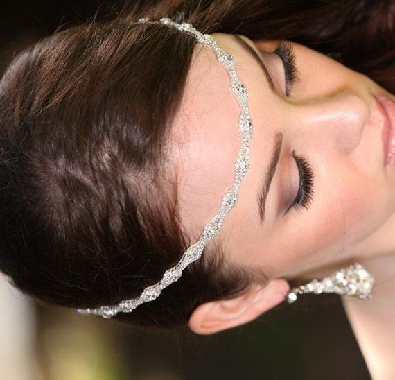 Wedding Hair With Rhinestone Headband : Nina rhinestone headband grecian headpiece wedding hair
