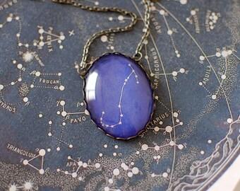 Scorpio Constellation Necklace. Zodiac Pendant. Star Sign, Astronomy, Horoscope, Astrology, Celestial, Space, Cosmos, November Birthday.
