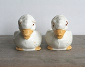 Ceramic Duck Planters, Vintage Easter Duck Art Pottery