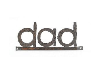 Dad metal word sign wall hanging