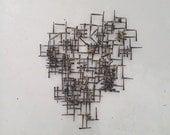 Mid century brutalist nail sculpture