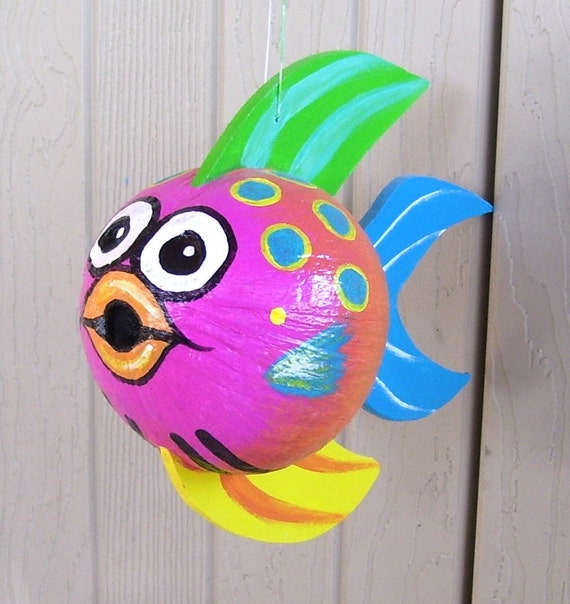 Hand Painted Coconut Fish