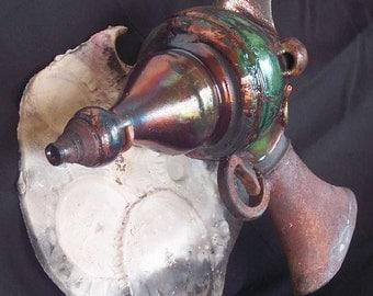 Van Vogt Defractor - Raku Ray Gun Ceramic Sculpture