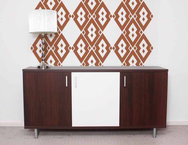 Mid century modern wall decor wall decal by wallstargraphics for Wall stickers decor modern