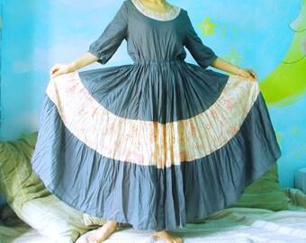 One Summer Dream...Azo Free Dusty Teal Blue Boho Dress