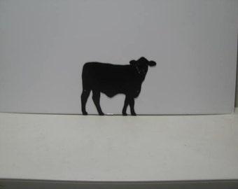 Cow 005 Western Metal Wall Yard Art Silhouette