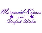 Mermaid Kisses and Starfish Wishes Wall Decal Kids Room Decals Nursery Wall Decal Baby Room Decor Baby Shower Gift Baby Wall Decor Kids Room