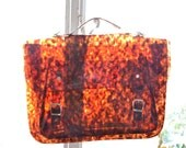 Large bag number 3 Tortoiseshell vinyl plastic satchel or backpack crossbody strap (Handmade to order)