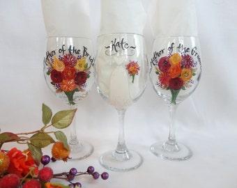 EXACT DRESS & FLOWER Replica, Bridesmaid Wine Glasses, Bridesmaid Gifts, Bridal Party Gifts, Dress Wine Glasses, Bridesmaid Champagne Flutes