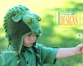 PATTERN Snappy Simon the Crocodile Hat Crochet PDF Pattern with Instant Download
