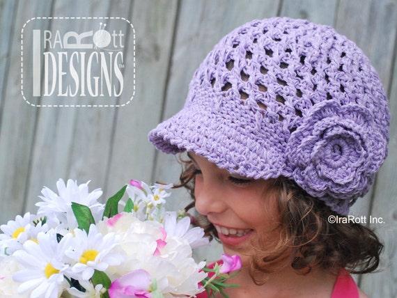 PATTERN Summer Beanie with Brim & Flower plus Brimless Option Crochet PDF Pattern