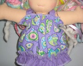 Short and top set made to fit Waldorf style dolls 10  inches
